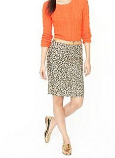 J Crew, No. 2 pencil skirt. Love the combo