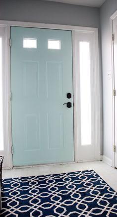 Painted Entry Door Behr Sea Ice