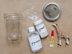 How to Make Glitter Snow Globes From Mason Jars | how-tos | DIY