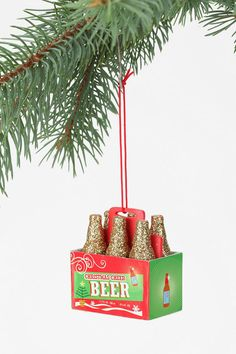 Christmas Beer Ornament  #UrbanOutfitters