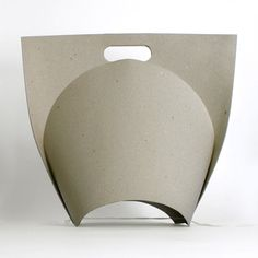 Shopping Bag by Ryszard Rychlicki via dezeen: Made of folded recycled paper. #Paper #ShoppingBag #Ryszard_Rychlicki