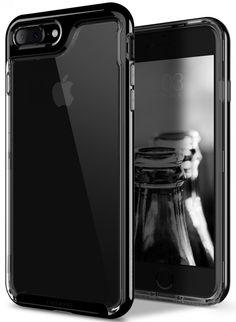 iPhone 7 Plus Case,  [Skyfall Series] Transparent Clear Enhanced Grip [Jet Black #Caseology