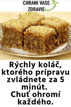 """Našli sme pár nových pinov na vašu nástenku """" Dolce Vita """" 3 - Sweet Desserts, Sweet Recipes, Cake Recipes, Dessert Recipes, Slovak Recipes, Czech Recipes, Vegan Recepies, No Bake Cake, Food Hacks"""