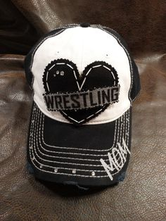 Hey, I found this really awesome Etsy listing at https://www.etsy.com/listing/265501572/wrestling-mom-love-hat