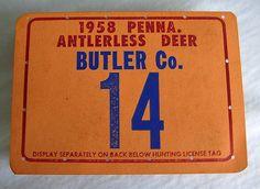 Vintage-hunting-License-tag-1958