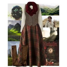 A little too costume-y, but I do love the vest, skirt, and boots. Shorten skirt to modernize it?