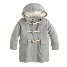 Girls' stadium cloth toggle coat