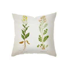 Botanical Brilliance Throw Pillow