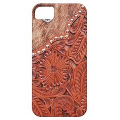 Western Tooled Leather Look iPhone 5 Cases