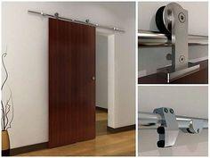 6.6 FT Modern Stainless Steel Interior Sliding Barn Wood Door Hardware Track Set