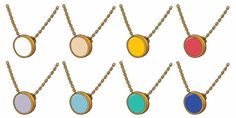 The Enamel Collection, Circle Necklace, selected by AmericanApparel. I have the earrings but might have to go back for the yellow necklace...