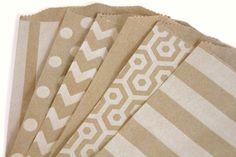 15 Chevron Kraft Bags Treat Bags Favor by BahanaSplitsBoutique, $4.00