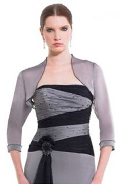 3/4-length Sleeve Chiffon #Bolero & #Shawls Style Code: 06772 $33
