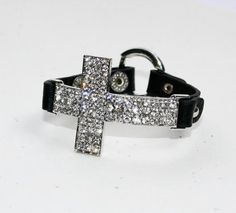 Crystal Cross Bracelet - Black ... from 'luckyyouluckyme' on Lilyshop for $38.00