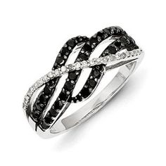 Sterling Silver 1/2 Carat Black White Diamond Weave Style Ring Christmas 2014 Holiday Jewelry Deals and Sales At Gemologica.com. Xmas Gift guide, Gift Ideas For Him, Gift Ideas For Her, Gift Ideas For Kids. Give the Gift of Fine Jewelry From the Gemologica.com Online Jewelry Store. Unique Gifts, Personalized Gifts, Gift Finder For Men, Women, Children @ GEMOLOGICA.COM