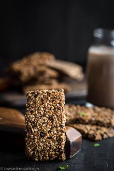 Super easy extra crunchy Raw Seed Keto Crackers Bread Recipe, made out of only 4 different types of seeds and water. This dehydrated Keto Crispbread is not only dairy-free, grain-free, but egg-free and fully vegan Keto Snack. Lowest Carb Bread Recipe, Low Carb Bread, Keto Bread, Cracker Bread Recipe, Challah Bread Recipes, Ketogenic Recipes, Low Carb Recipes, Chicken Recipes No Dairy, Italian Breadsticks Recipe