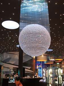 An exquisite crystal chandelier at the Swarovski Kristallwelten (Crystal Worlds) at Watten in Austria.