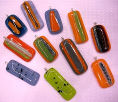 fused glass pendants on christmas lights | ... friend Laura . She's there with her gorgeous fused glass pendants