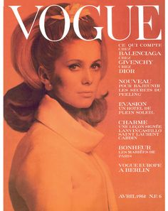 Film and the covers of Vogue Paris: Catherine Deneuve on the April 1962 cover of Vogue Paris