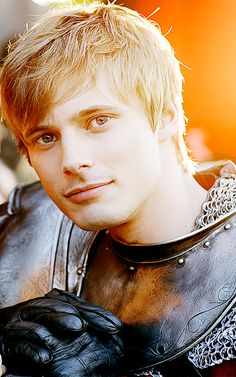 Arthur from Merlin. He's a fantastic character. He can be so arrogant yet so kind. Most of the time I want to hug him, and at other times, smack him upside the head. It's awesome. :)