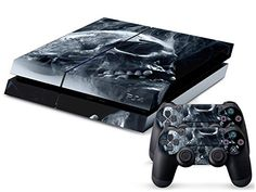 Amazon.com: Eddie Internatioanl (TM) PS4 Console Designer Skin for Sony Playstation 4 Console System Plus Two (2) Decals For: PS4 Dualshock Controller - Skull: Video Games