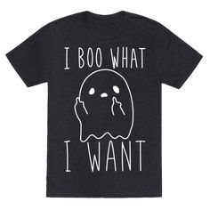 "Show off your spooky, ghostly independence with this ""I Boo What I Want"" sassy…"