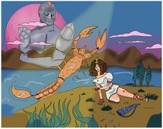 Escorpio, Ilustración , Dibujo, Signos del Zodiaco