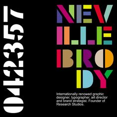 Typographers: Neville Brody - Eva Crawford-McKee - Medium Neville Brody's is an English Designer and Typographer. Although he sticks to a subtle colour pallette when appropriate, a good portion of… Bold Typography, Typography Poster, Typography Inspiration, Graphic Design Inspiration, Neville Brody, Milton Glaser, Text Types, Brand Strategist, Communication Design