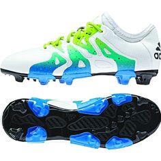 adidas X 15.1 FG-AG Junior Soccer Cleats White-Slime