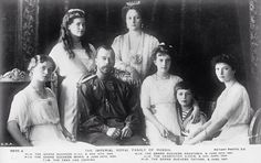 Family portrait taken in 1913 during the tercentenary which celebrated 300 years of Romanov rule in Russia