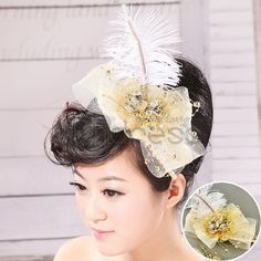 Wedding Headpieces / The flower head of the bride's hand to pass two pieces / http://www.thdress.com/The-flower-head-of-the-bride's-hand-to-pass-two-pieces-p2102.html