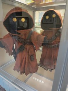My Star Wars Dolls (Jawas) at the Joliet Area History Museum on display through mid-June 2015.