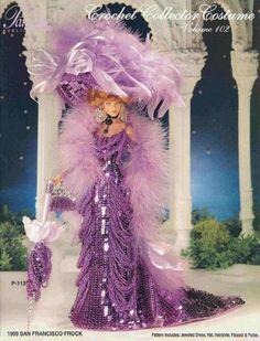 133.Barbie fashion doll dress-crochet pattern in pdf by Vandihand on Etsy