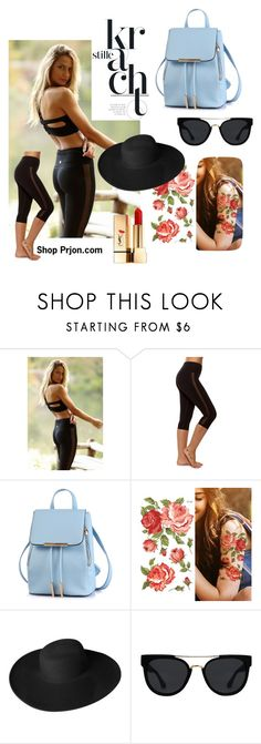 """""""Be You"""" by sweatinstyle on Polyvore featuring Dorfman Pacific, Quay, Yves Saint Laurent, fitness, athletic, yoga, athleisure and fitchick"""