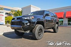 2016 Toyota 4Runner Trail Black | 17x8.5 Method Race NV Matte Black 0 Offset 6 X 5.5 | LT285/70/17 Toyo Open Country R/T | Icon Suspension Stage 7 Kit | Satin Black Wrap Front and Rear Bumper Areas