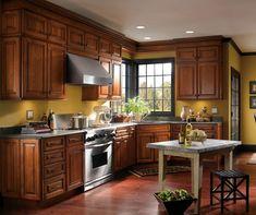 Schrock Whiskey Black On Cherry Cabinets | Kitchen Designs We Love |  Pinterest | Cherry Cabinets, Kitchens And Kitchen Gallery