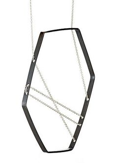 FORME Necklace 111 in Oxidized and Sterling Silver
