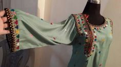 Balochi Dress - Balochistan - Pakistan Hand Embroidery Dress, Embroidered Clothes, Applique Dress, Myanmar Traditional Dress, Traditional Dresses, Pakistani Dress Design, Pakistani Dresses, Stylish Dresses, Nice Dresses
