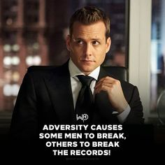 Where's the fun in going with the flow? Break the fucking RECORDS! . . #whatwouldharveydo #harveyspecter #gabrielmacht #suits #records #wwhd
