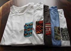 Tantum t-shirts with pocket prints