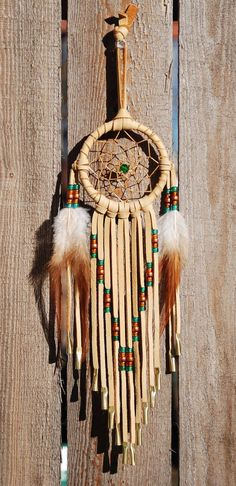 3 Inch Golden Deerhide Dream CatcherEmerald by SouthernCloud, $22.00
