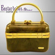 High Style Unique Italian Baulotto Hard-Sided Handbag / Purse