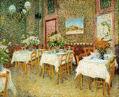 The Athenaeum - Interior of a Restaurant (Vincent van Gogh - )