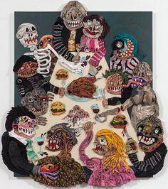 "Art | Installation | Aaron Johnson's ""Pisockophilia"" at Stux and Haller Gallery | Hi-Fructose Magazine"