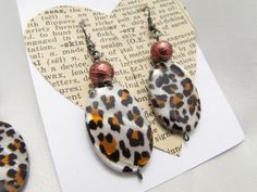 Leopard Necklace Earrings Set LEOPARD BLING by PlethoraGifts
