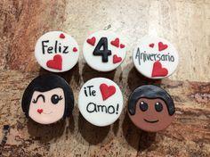 Bollitos de aniversario Valentine Cake, Valentines Day, Relationship Gifts, Fondant Cupcakes, Cake Boss, Cakes And More, Cake Art, Deli, Oreo
