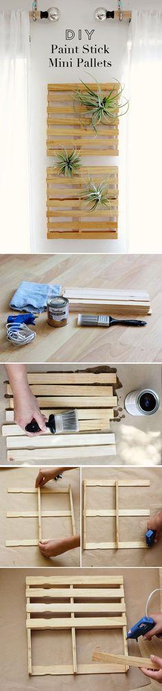 17 Simple & Fun DIY Paint Stick Crafts Craft Ideas | DIY Ready