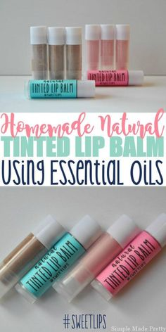 This DIY All-Natural Tinted Lip Balm Using Essential Oils will change the way you look at using toxic, chemical-filled tinted lip balm going forward. My daughter loves using Cover Girl's baby Lips tinted lip balm so I decided to make our own (since I'm an Homemade Lip Balm, Diy Lip Balm, Tinted Lip Balm, Lip Tint, Homemade Moisturizer, Baby Lips, Beauty Care, Diy Beauty, Homemade Beauty