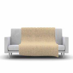 "Petit Griffin ""Chevron"" Yellow Pattern Fleece Throw Blanket - KESS InHouse  - 1"