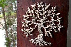 Baum des Lebens String Kunst von DistantRealms auf Etsy